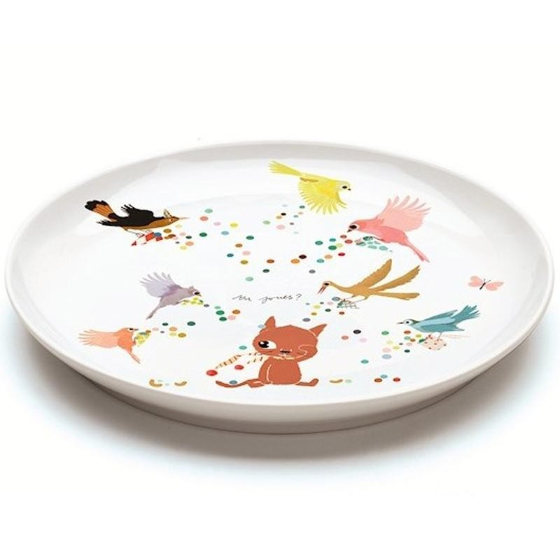 vaisselle porcelaine enfant assiette plate chatmallow djeco collection vaisselle pour enfant. Black Bedroom Furniture Sets. Home Design Ideas