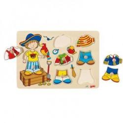 Puzzle personnage à habiller en bois Enfant 3 ans +