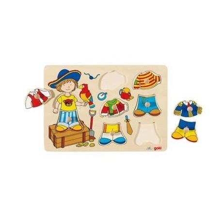 puzzle personnage habiller en bois enfant 3 ans un. Black Bedroom Furniture Sets. Home Design Ideas