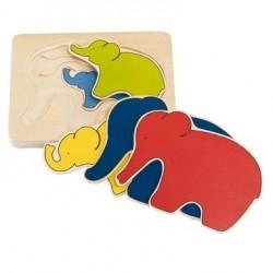 Puzzle en bois bébé 6 pcs Jouet Premier Age 1 an +