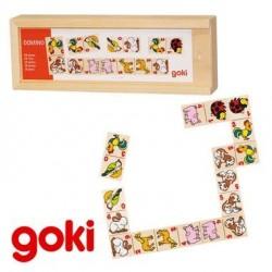 Dominos Animaux et chiffres Jeu Jouet en bois Enfant 3 ans +