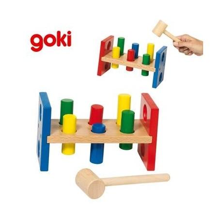 banc marteler jouet en bois ducatif d 39 veil enfant 2. Black Bedroom Furniture Sets. Home Design Ideas