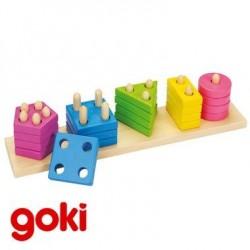 Assortir les formes et couleurs Jeu éducatif bois Enfant 2 ans +