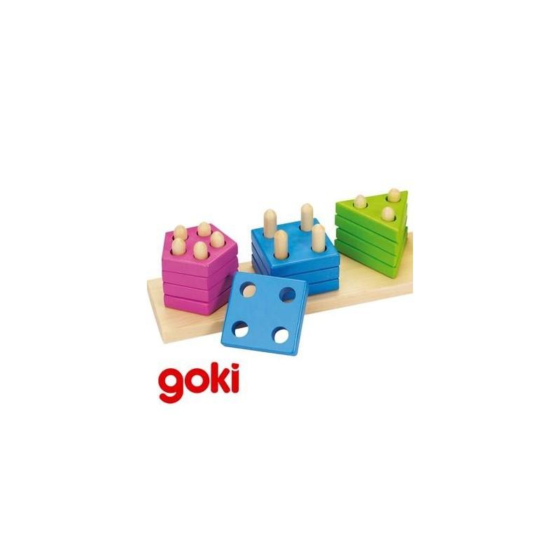 Assortir les formes et couleurs Jeu éducatif bois Enfant 2 ans + - Un jeux des jouets
