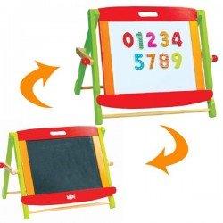Tableau noir et blanc en bois magnétique portable Enfants 3 ans +