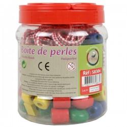 Jeu de motricité fine avec 80 perles en bois pour enfants dès 3 ans