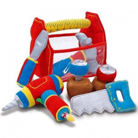 jouet bébé 1 an Jouet en tissu Boite a outils jouets sonores et vibreur
