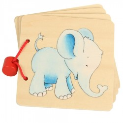 Livre premier âge en bois Eléphant