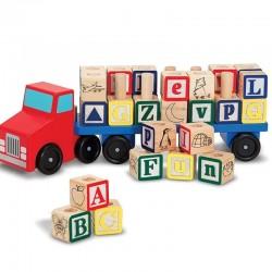 Camion de cubes en bois ABC