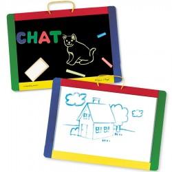 Tableau magnétique enfant avec alphabet et chiffres 41x30 cm