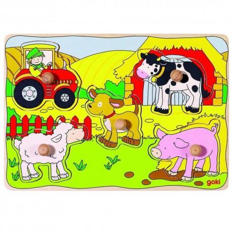 Puzzle à encastrement en bois La ferme