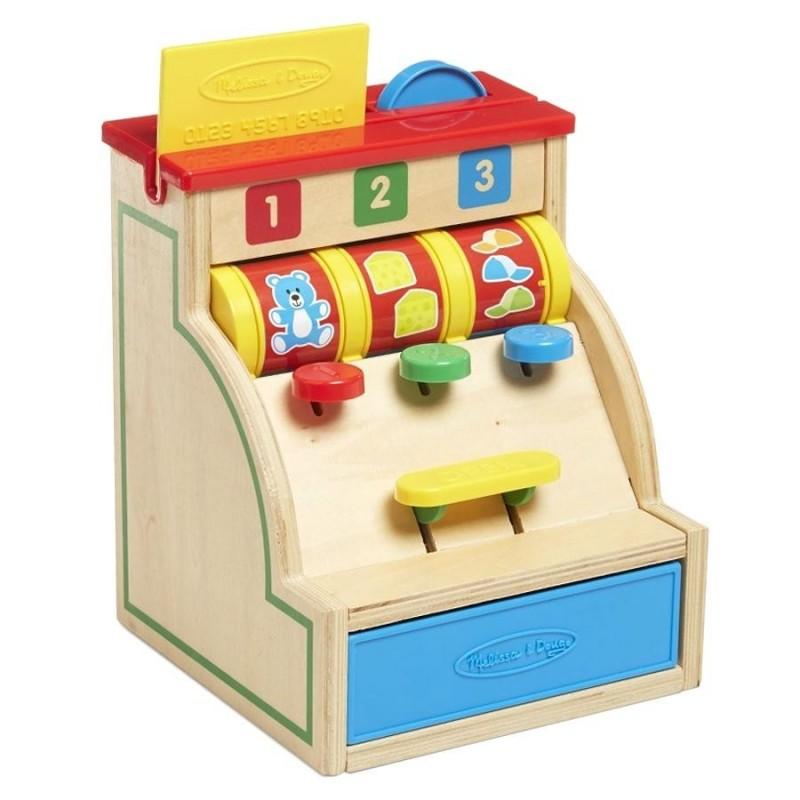 jouet d 39 veil en bois caisse enregistreuse la marchande pour enfant partir de 2 ans. Black Bedroom Furniture Sets. Home Design Ideas