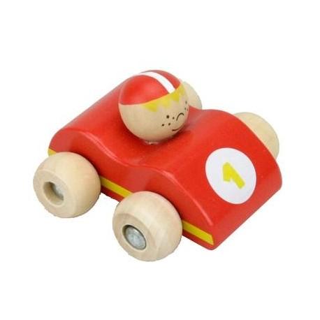 Petite Voiture n°1 Jouet d'éveil en bois bébé et Enfant 2 ans +