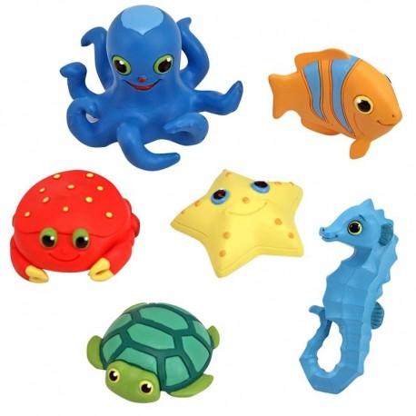 jeu de bain Set de 6 animaux marins pour le bain Enfants 3 ans +