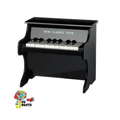 Piano noir en bois jouet musical et instrument de musique enfant