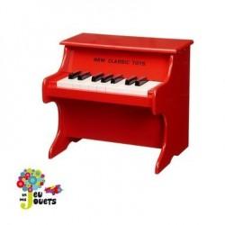 Piano rouge en bois jouet musical et instrument de musique enfant
