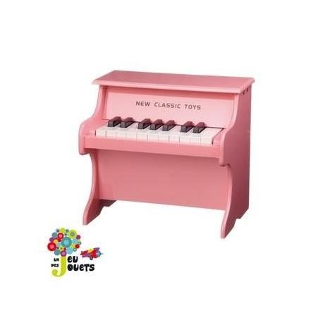 Piano rose en bois jouet musical et instrument de musique enfant