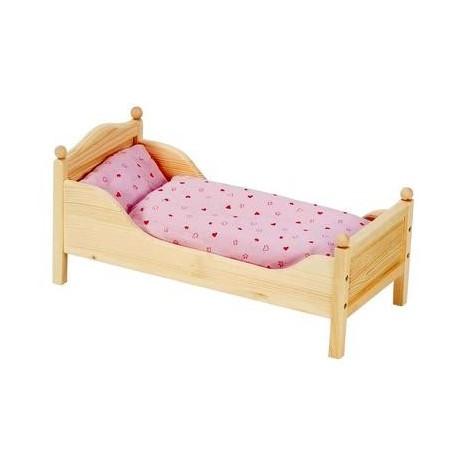 lit de poup es jouet en bois jeu d 39 imitation enfant 3 ans un jeux des jouets. Black Bedroom Furniture Sets. Home Design Ideas
