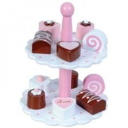 Plateau de 11 gâteaux Jouet en bois Dinette Enfant 3 ans +