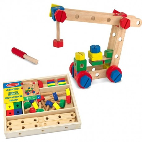 Jeu de construction en bois coffret de 48 pièces