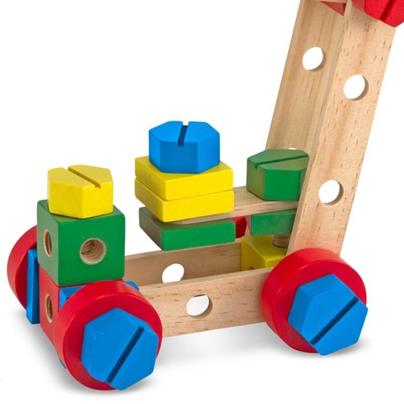 Jeu de construction en bois coffret de 48 pi ces pour for Jeu de construction en bois 4 ans