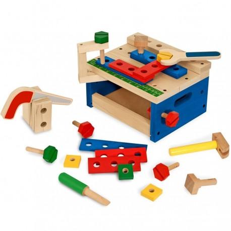 Jouet petit établi en bois 26 pièces