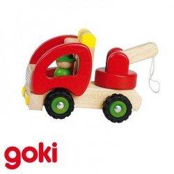 Camion dépanneuse solide Jouet en bois pour enfant 2 ans +