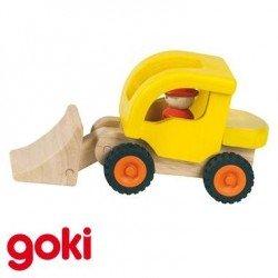 Camion pelleteuse solide Jouet en bois pour enfant 2 ans +