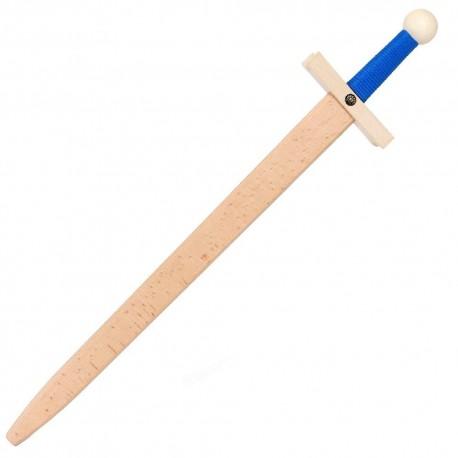 Épée en bois Lancelot Bleue 60 cm