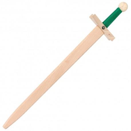 Épée jouet bois Lancelot Verte 60 cm