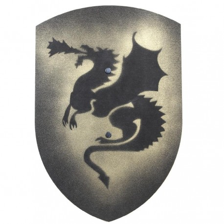 Déguisement bouclier enfant Dragon Noir