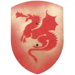 Bouclier bois enfant Dragon Rouge