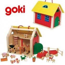 Jouet Maison ferme en bois 31 pièces pour Enfant 3 ans +