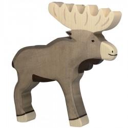 Animaux en bois élan figurine Holtztiger