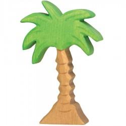 Arbre en bois palmier figurine Holtztiger