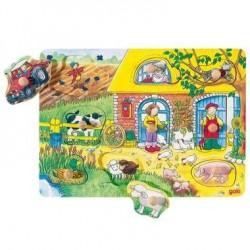 Puzzle à images cachées 9 pcs Jouet en Bois Enfant 2 ans et +