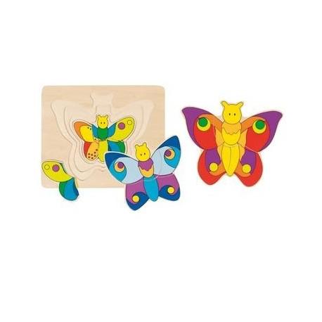 Puzzle éducatif en bois plusieurs couches Enfant 2 ans +
