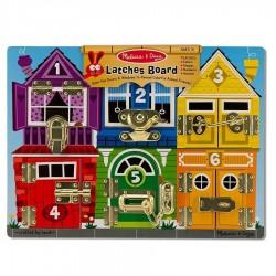 Puzzle des verrous en bois 39 x 29 cm