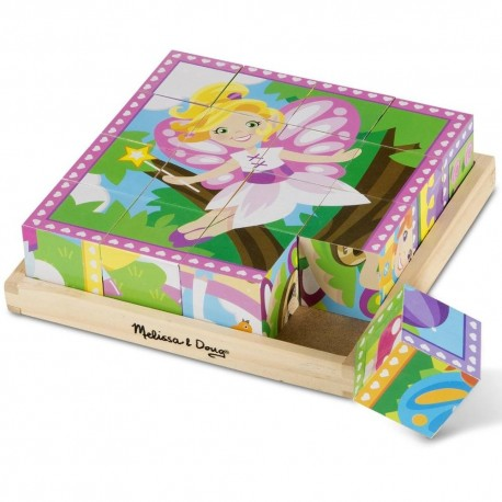 Puzzles cubes bois fées et princesses