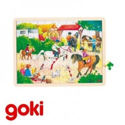 Puzzle 30 x 40 cmJ eu Jouet en bois 96 pièces Enfant 4 ans +