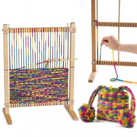 Grand métier à tisser pour enfant Kit complet