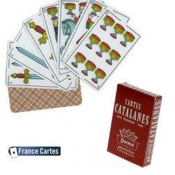 Cartes à jouer Catalanes 48 cartes de jeu dos écossais axé plastifiées