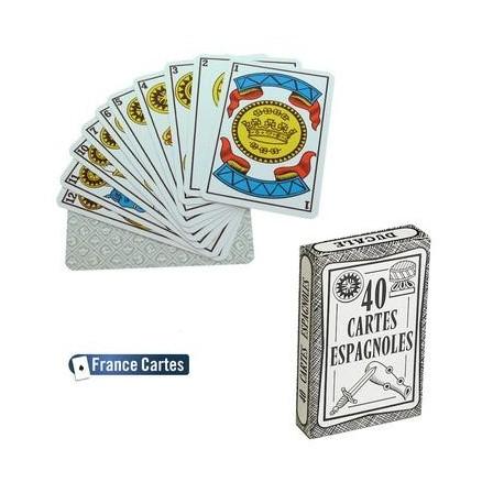Cartes à jouer Espagnoles en étui carton Jeu de 40 cartes