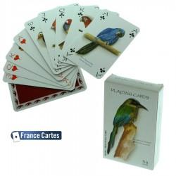 Jeu de cartes de collection 55 cartes collection luxe Les oiseaux