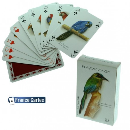 Jeu de cartes de collection 55 cartes collection luxe Les oiseaux