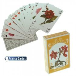 Jeu de cartes de collection 55 cartes luxe Les fleurs