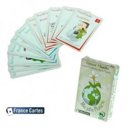 Jeux de cartes éducatifs 7 familles les écolos gamme verte