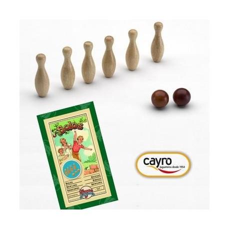 Jeu de quille bowling en bois Enfant Adulte Cayro Collection