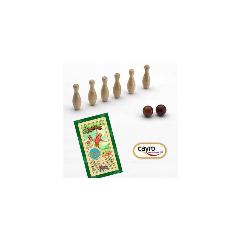 jeu de quille bowling en bois enfant adulte cayro. Black Bedroom Furniture Sets. Home Design Ideas