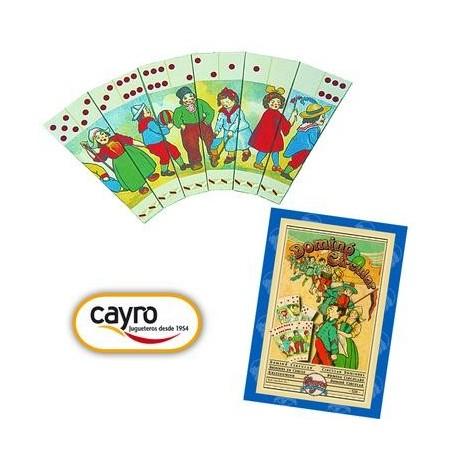 Jeu de Dominos circulaire rétro Cayro Collection 28 pcs